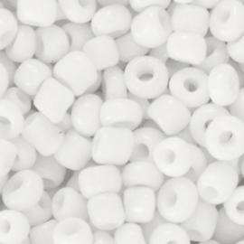 Glaskralen Rocailles 6/0 (4mm) - Wit