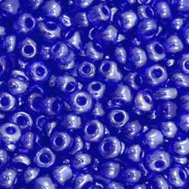 Glaskralen Rocailles 6/0 (4mm) - Midnight Blauw