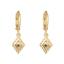 Oorbellen Lovely Diamond - Goud
