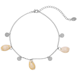 Enkelbandje Beach Shells 2.0 - Zilver