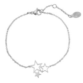 Armbandje Sweet Stars - Zilver