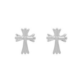 Oorbellen Chic Kruisje - Zilver