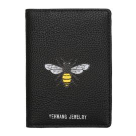 Paspoorthoesje Bij - Zwart