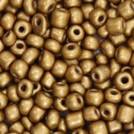 Glaskralen Rocailles 6/0 (4mm) -  Goud