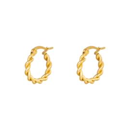 Oorbellen Twine - Goud
