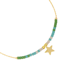 Armbandje Your Star - Goud/Groen