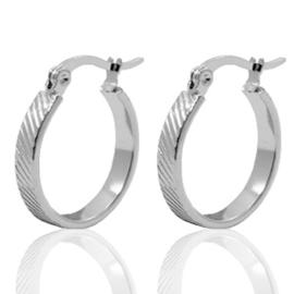 Oorbellen Ring -  Zilver