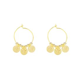 Oorbellen Tiny Coins - Goud