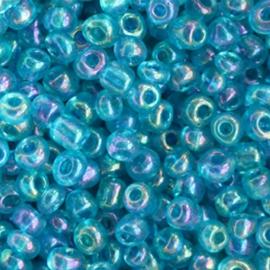 Glaskralen Rocailles 6/0 (4mm) - Oceaan Blauw