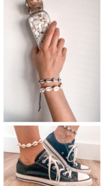 Stel zelf je schelpen enkelbandje / armbandje samen!