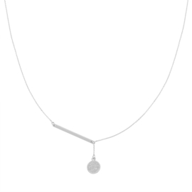 Ketting Coin & Bar - Zilver