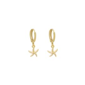 Oorbellen Starfish - Goud