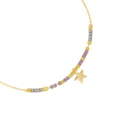 Armbandje Your Star - Goud/Paars