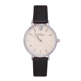 Horloge - Zwart/Zilver