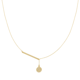 Ketting Coin & Bar - goud