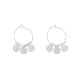 Oorbellen Tiny Coins - Zilver