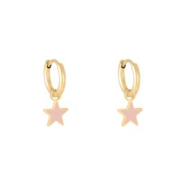 Oorbellen Pastel Star - Roze