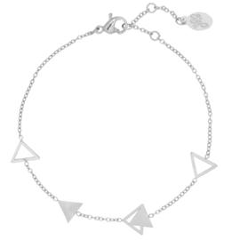 Ambandje Jazzy Triangle - Zilver