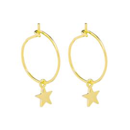Oorbellen Trend Star - Goud