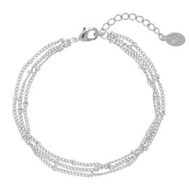 Armbandje Little Dots - Zilver
