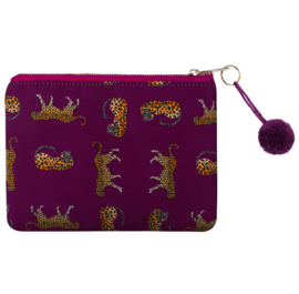 Make-up Tas Wild Leopard - Paars