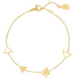 Armbandje Jazzy Triangle - Goud