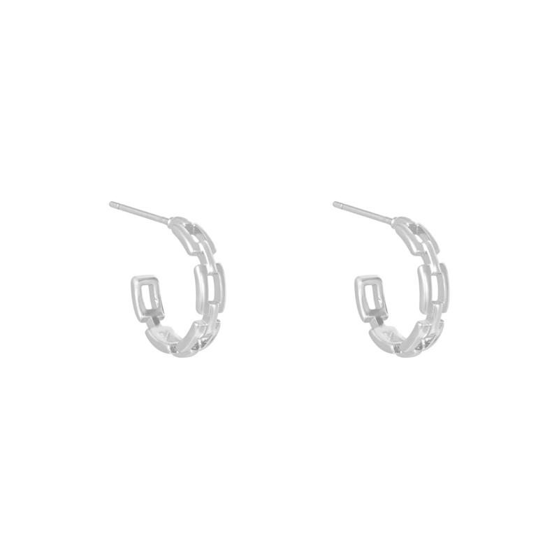 Oorbellen Linked - Zilver