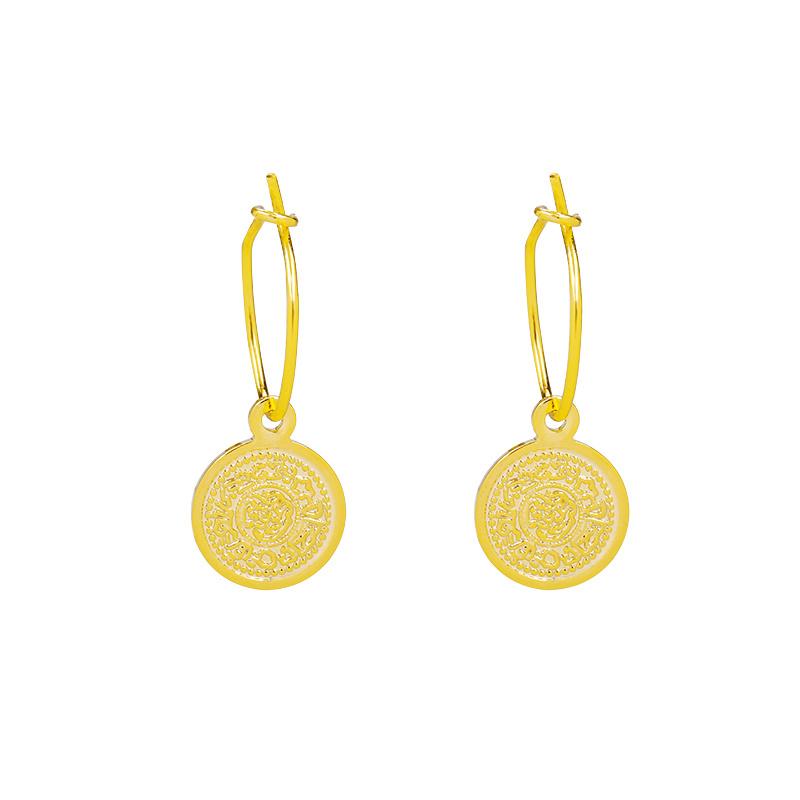 Oorbellen Lucky Coin 2.0 - Goud