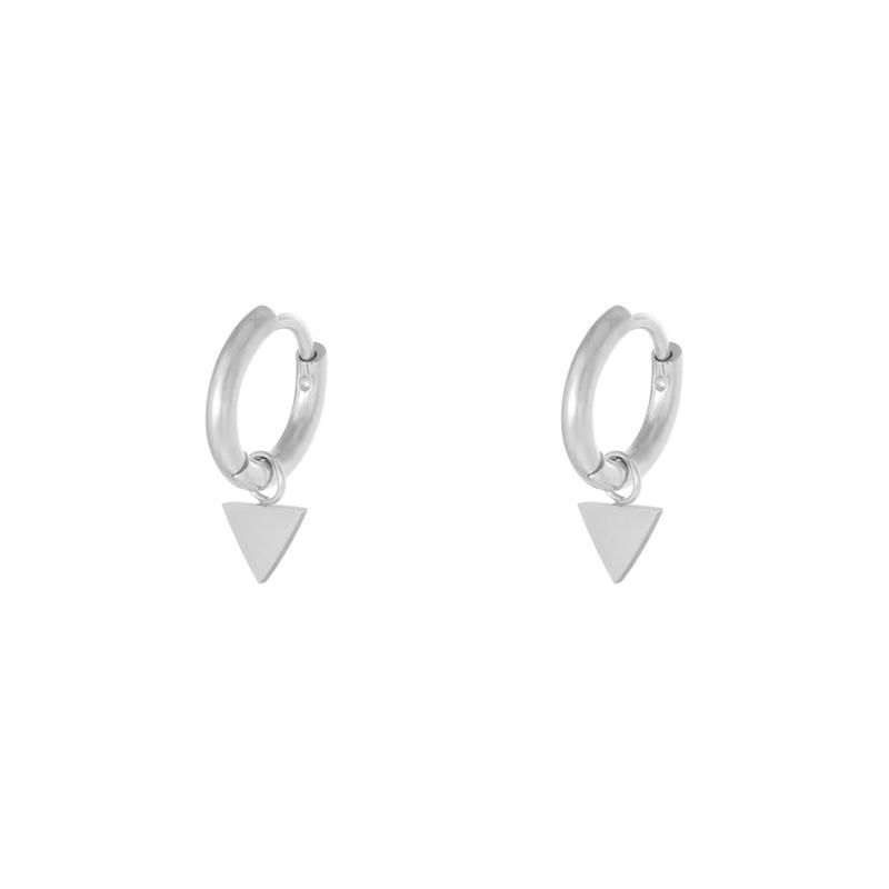 Oorbellen Triangle - Zilver