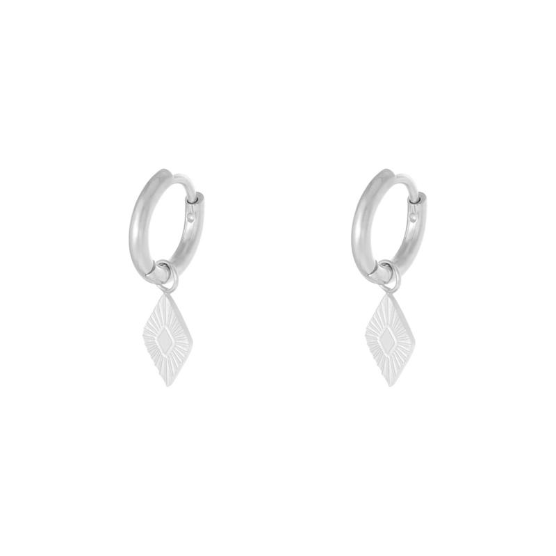 Oorbellen Diamond - Zilver