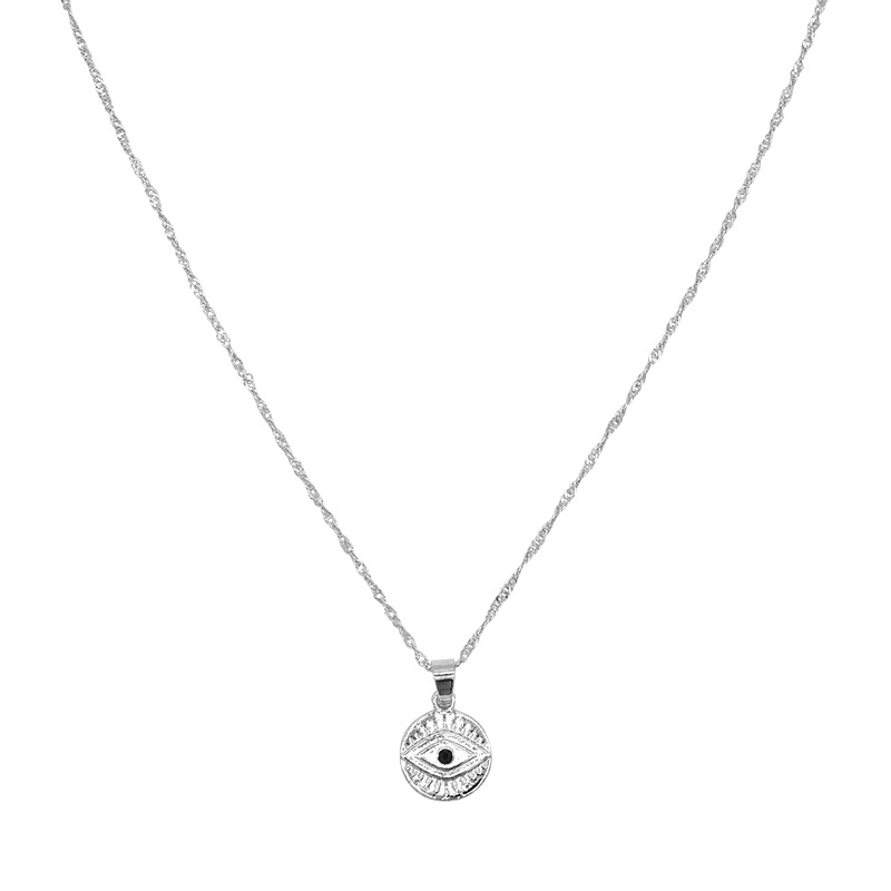 Ketting Curious Eyes - Zilver