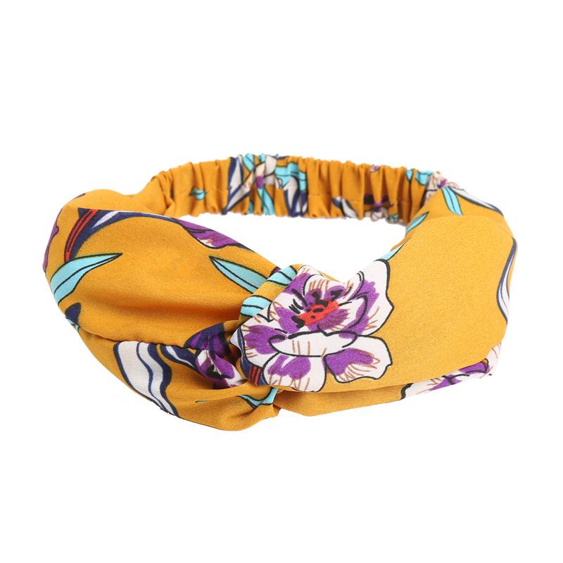 Haarband Happy Flowers - Geel