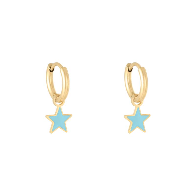 Oorbellen Pastel Star - Blauw