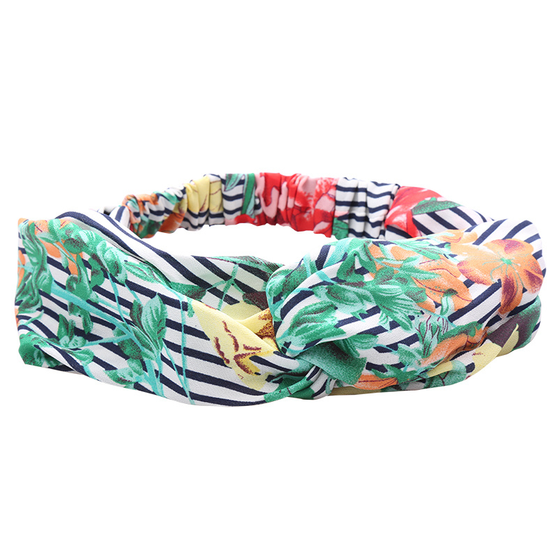 Haarband Striped Flower Bomb
