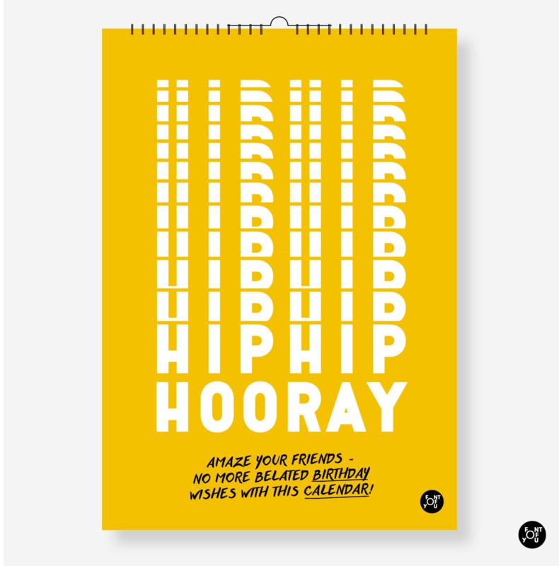 Verjaardagskalender 'Hip Hip Hooray!' - Quotes