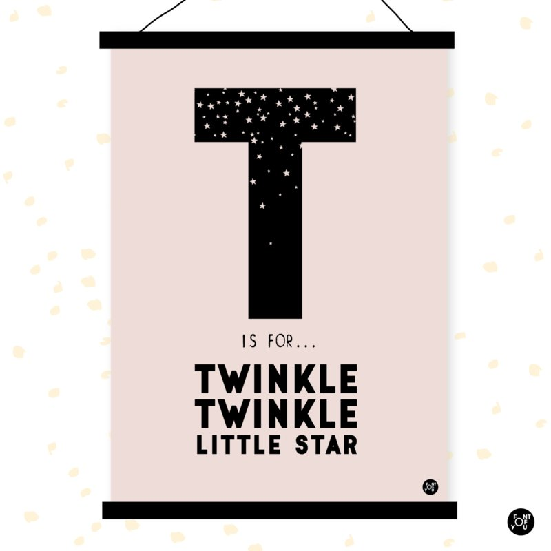 Poster - T is for Twinkle twinkle little star