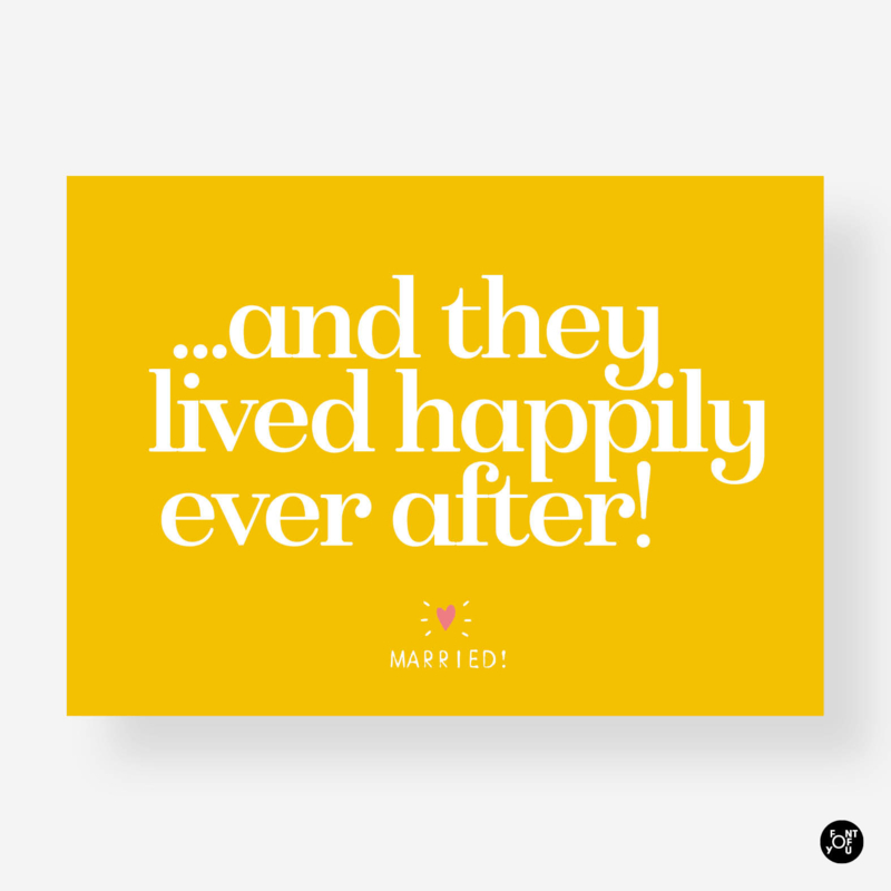 Kaart - Happily ever after
