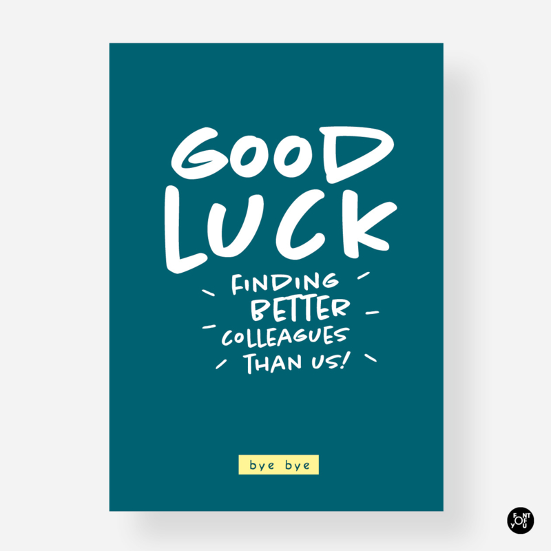 Kaart - Good Luck collega