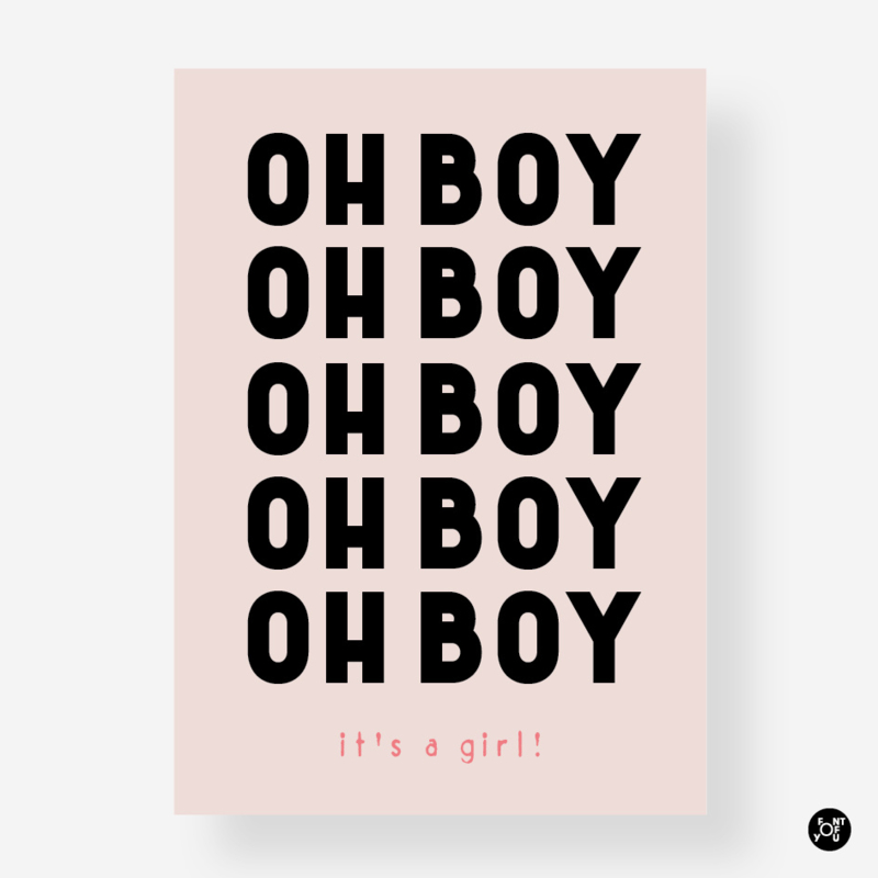 Kaart - Oh boy oh boy it's a girl