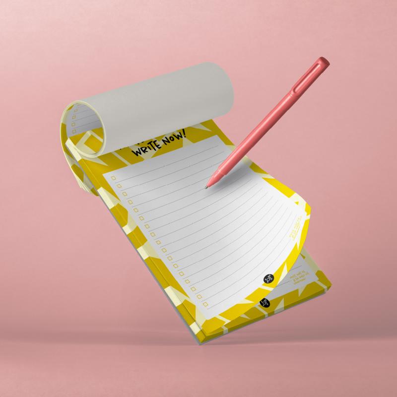 Notitieblok - Write here, write now!