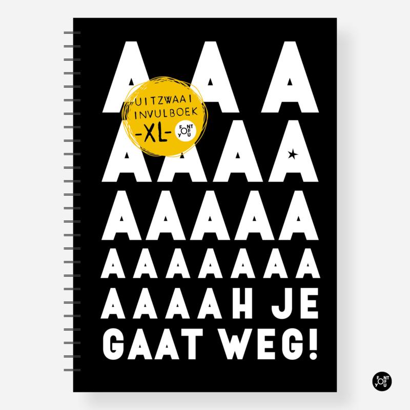 Invulboek - Uitzwaaiboek collega 'Aah je gaat weg' -XL-