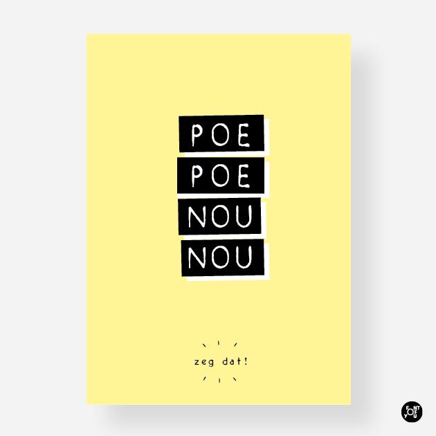 Kaart - Poe poe nou nou