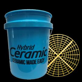 Hybrid Ceramic Blue Bucket + Grit Guard