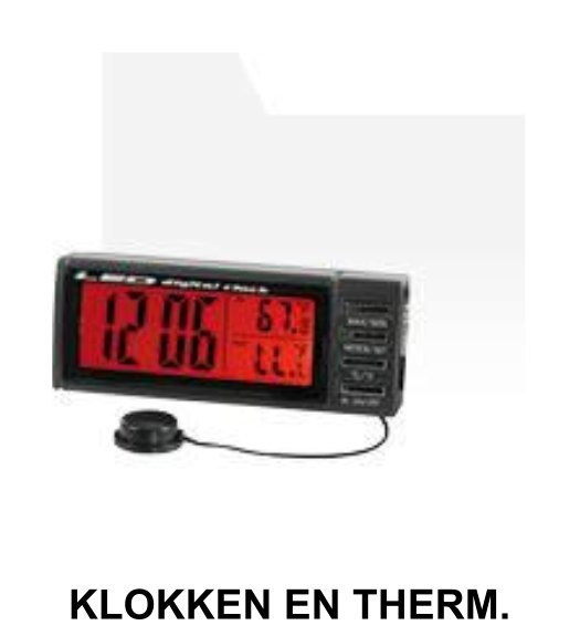 klokken en thermometers