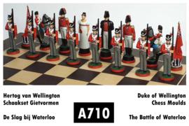 Gietmallen Schaakset Slag bij Waterloo Engeland (32 mm stukken)