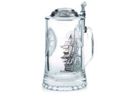 La Paloma - Glass Beer Stein with Laser Engraving 0,5L