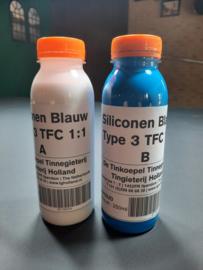 Siliconen Blauw Type 3 TFC 1:1 - 0,5 Liter