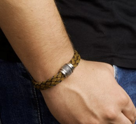 Echt leren armband met stoere magneetsluiting