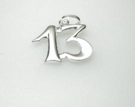 zilveren hangertje 13