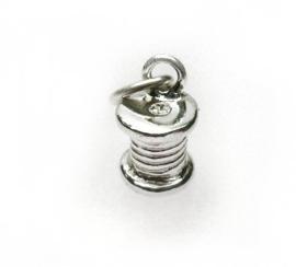 zilveren klosje garen hanger/bedel